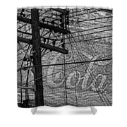 Vintage Coca Cola Sign 4 Shower Curtain