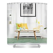 Vintage Convertible Example Shower Curtain