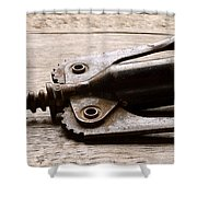 Vintage Corkscrew Shower Curtain
