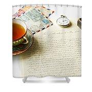 Vintage Correspondence Shower Curtain