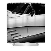 Vintage Corvette 4b Shower Curtain