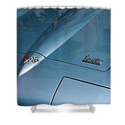 Vintage Corvette 6 Shower Curtain