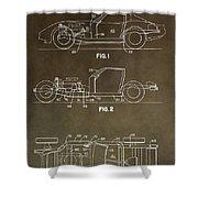 Vintage Corvette Patent Shower Curtain