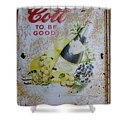 Vintage Cott Fruit Juice Sign Shower Curtain