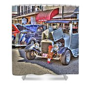 Vintage Cruise Cars 5 Shower Curtain