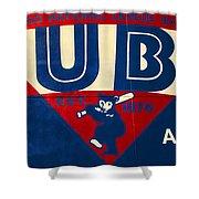 Vintage Cubs Spring Training Sign Shower Curtain
