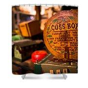 Vintage Cuss Box Shower Curtain
