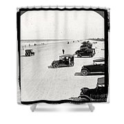 Vintage Daytona Beach Florida Shower Curtain