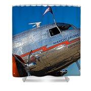 Vintage Dc-3 Airplane Shower Curtain