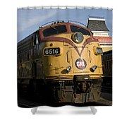 Vintage Diesel Locomotive Shower Curtain