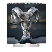 Vintage Dodge Ram Hood Ornament Shower Curtain