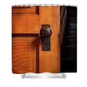 Vintage Door And Stairs Shower Curtain