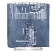 Vintage Door Lock Patent Shower Curtain