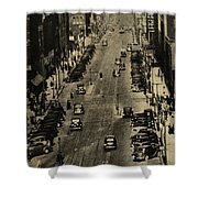 Vintage Downtown View Shower Curtain