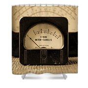 Vintage Electrical Meters Shower Curtain