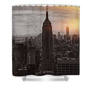 Vintage Empire State Building Shower Curtain
