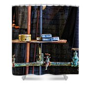 Vintage Factory Sink Shower Curtain