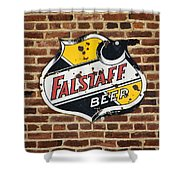 Vintage Falstaff Beer Shield Dsc07192 Shower Curtain