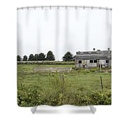 Vintage Farm Shower Curtain