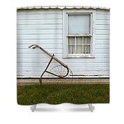 Vintage Farm Tool By Farmhouse Shower Curtain