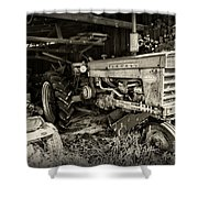 Vintage Farmall 460 Tractor Shower Curtain