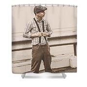 Vintage Fashion Model Shower Curtain