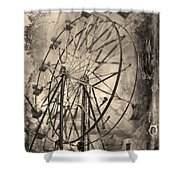 Vintage Ferris Wheel Shower Curtain