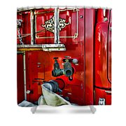 Vintage Fire Truck Shower Curtain