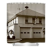Congers, New York - Vintage Firehouse Shower Curtain