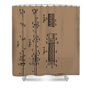 Vintage Fishing Rod Patent 1942 Shower Curtain