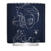 Vintage Football Helment Patent Drawing From 1935 Shower Curtain by Aged Pixel