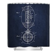 Vintage Football Patent Drawing From 1923 Shower Curtain