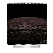 Vintage Football Square Format Shower Curtain