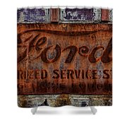 Vintage Ford Authorized Service Sign Shower Curtain