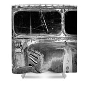 Vintage Ford Bus In Minnesota Shower Curtain