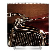 Vintage Ford Hood Ornament Shower Curtain