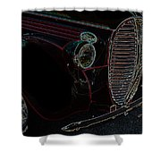 Vintage Ford Neon Art Grill Shower Curtain