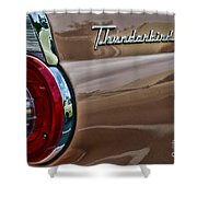 Vintage Ford Thunderbird Shower Curtain