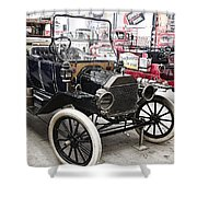 Vintage Ford Vehicle Shower Curtain