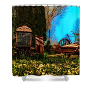 Vintage Fordson Tractor Shower Curtain