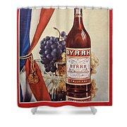 Vintage French Poster Byrrh Shower Curtain