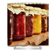 Vintage Fruit And Vegetable Preserves I Shower Curtain