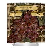 Vintage Fruit Of The Vine Shower Curtain
