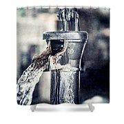 Vintage Ft. Worth Stockyards Water Pump Shower Curtain