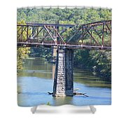 Vintage Garden City Bridge Shower Curtain