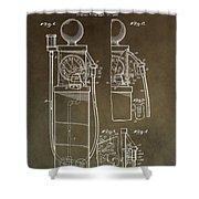 Vintage Gas Pump Patent Shower Curtain