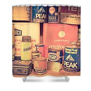 Vintage Gas Service Station Products Shower Curtain