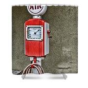 Vintage Gas Station Air Pump 2 Shower Curtain