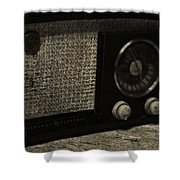 Vintage Ge Radio Shower Curtain