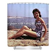 Vintage Glamour Quote Shower Curtain
